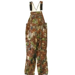Bear River camoflauge suspender coveralls 46x32
